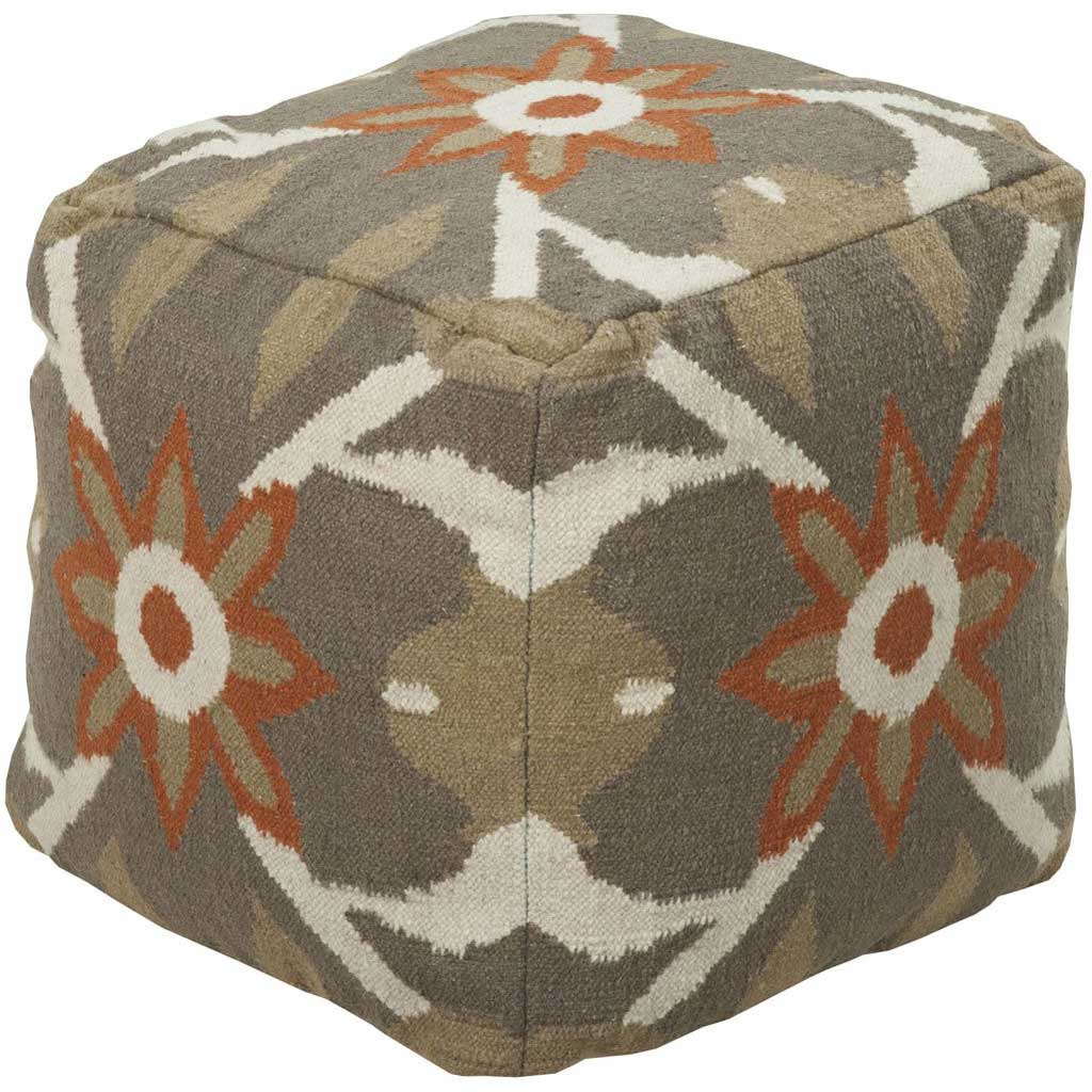Standard Camel/Rose/Burnt Orange Pouf