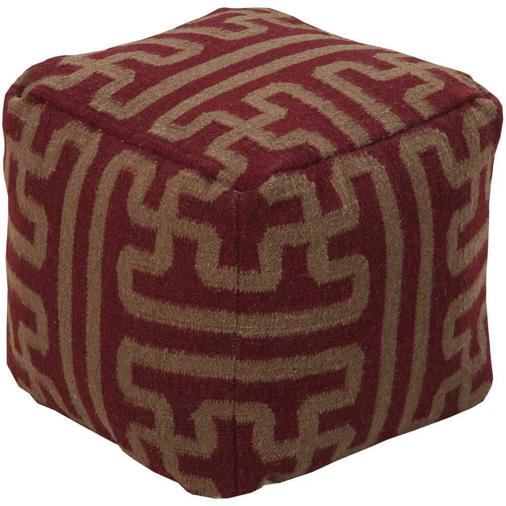 Standard Burgundy/Dark Brown Pouf