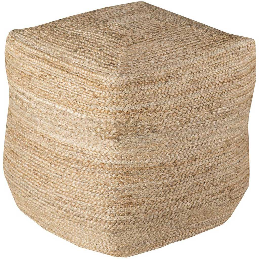 Standard Solid Neutral Cube Pouf
