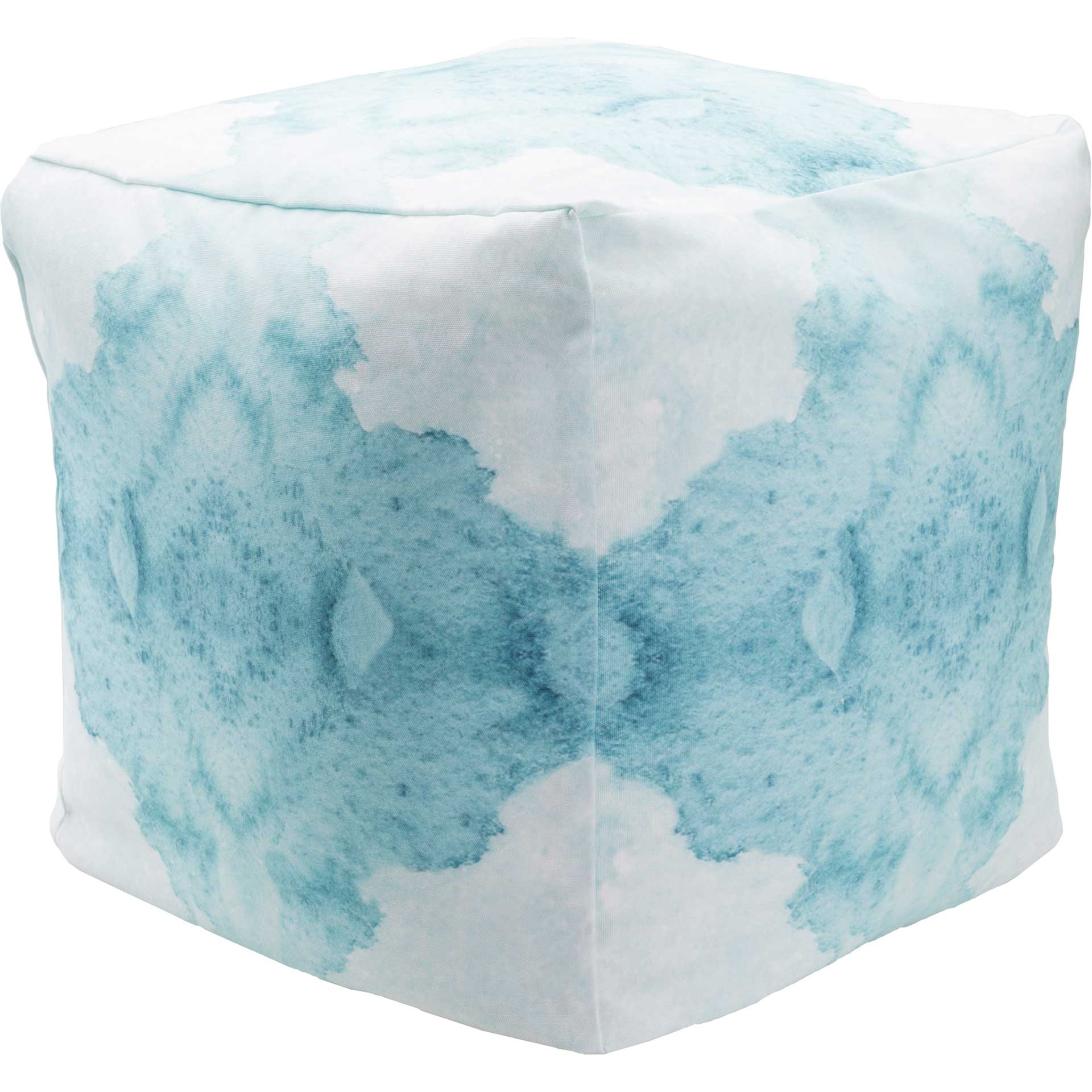 Standard Cube Watercolor Pouf