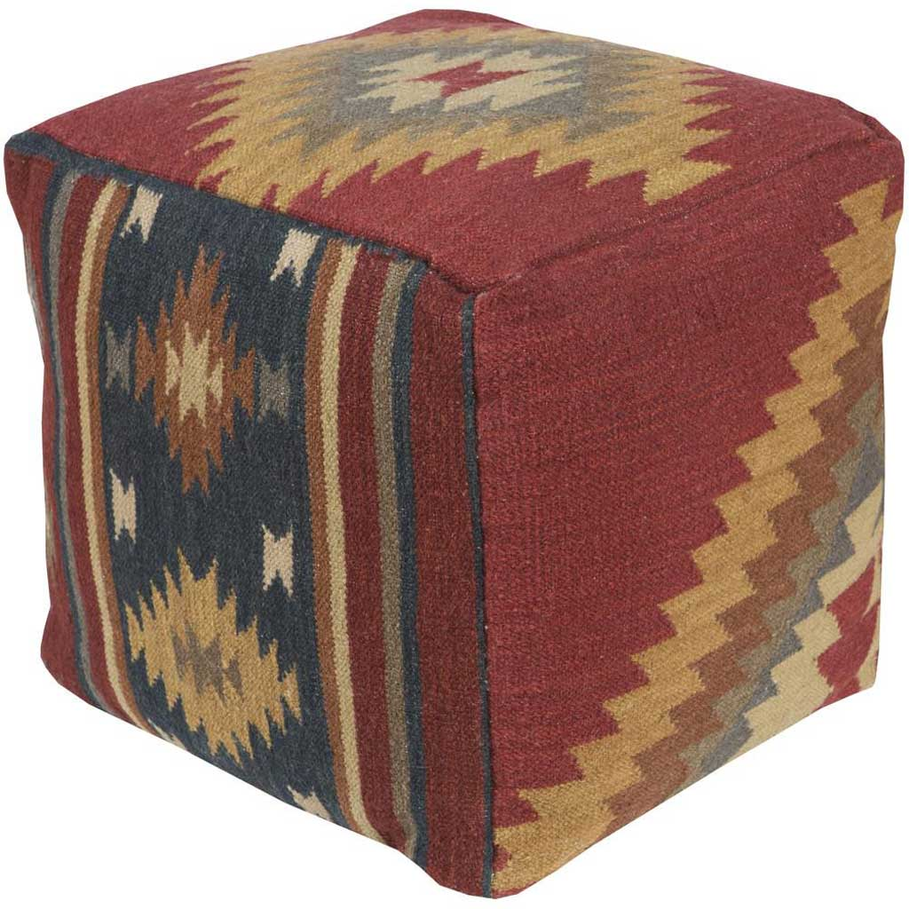 Standard Red Cube Pouf