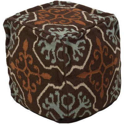 Standard Chocolate/Tan Cube Pouf