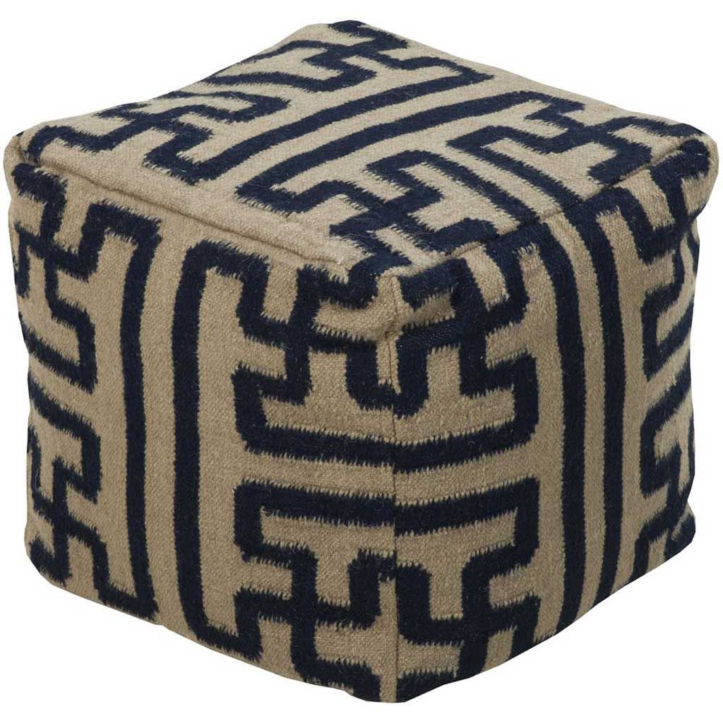 Standard Brown/Blue Cube Pouf