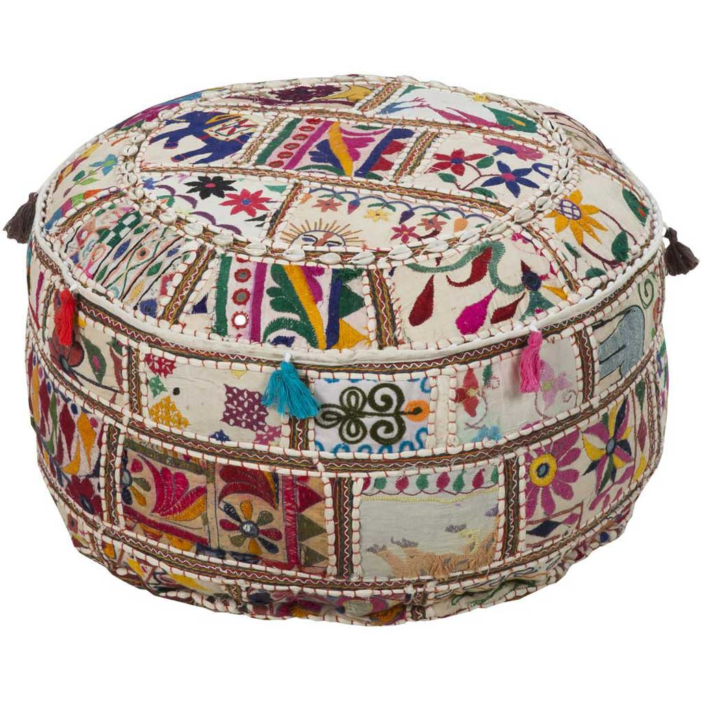 Standard Multi-Color Cylinder Pouf
