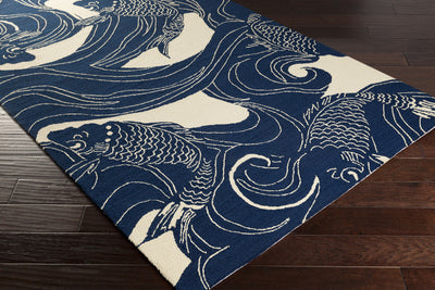 Rain Pacific Navy/Beige Area Rug
