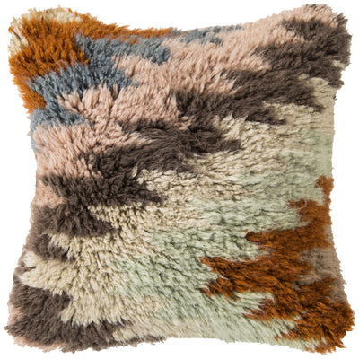 Zig Zagging Delight Sky Blue/Burnt Orange Pillow