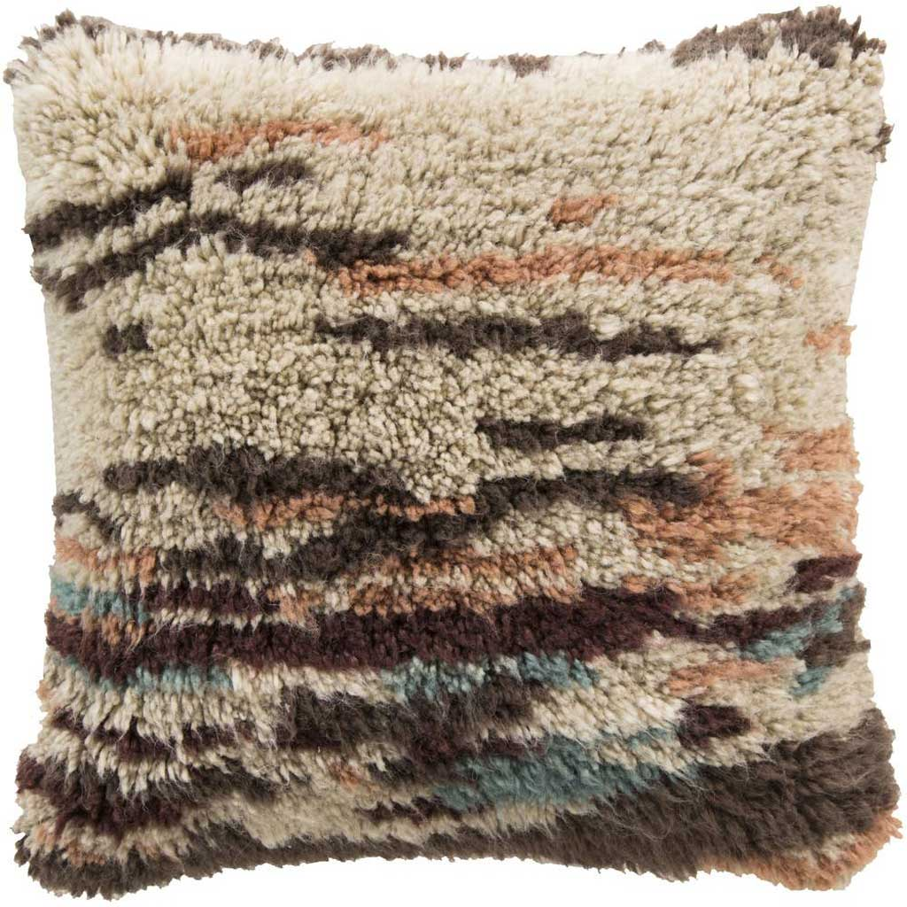 Abstract Delight Beige/Salmon Pillow