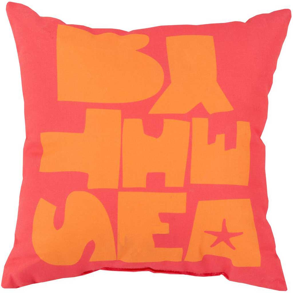 "Be ""By the Sea"" Coral Pillow"