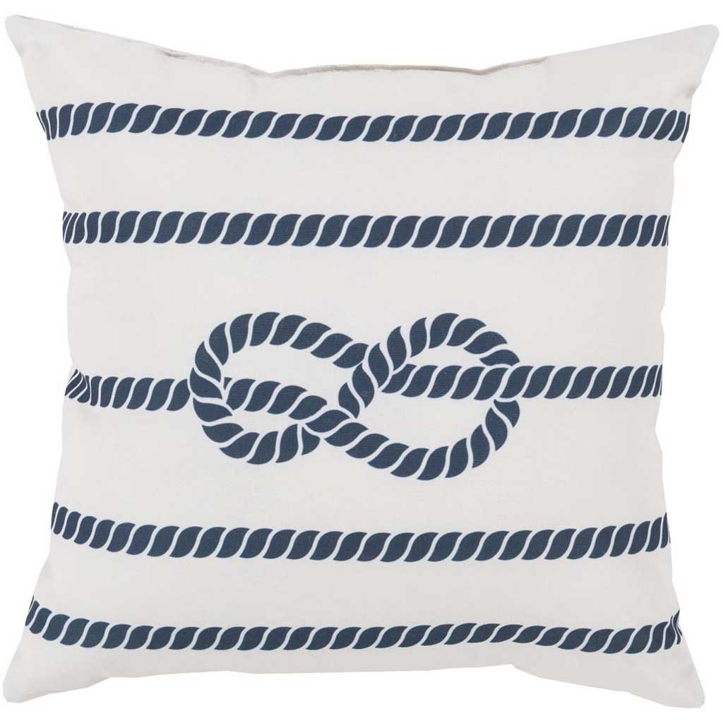 Knotted with Grace Ivory/Cobalt Pillow