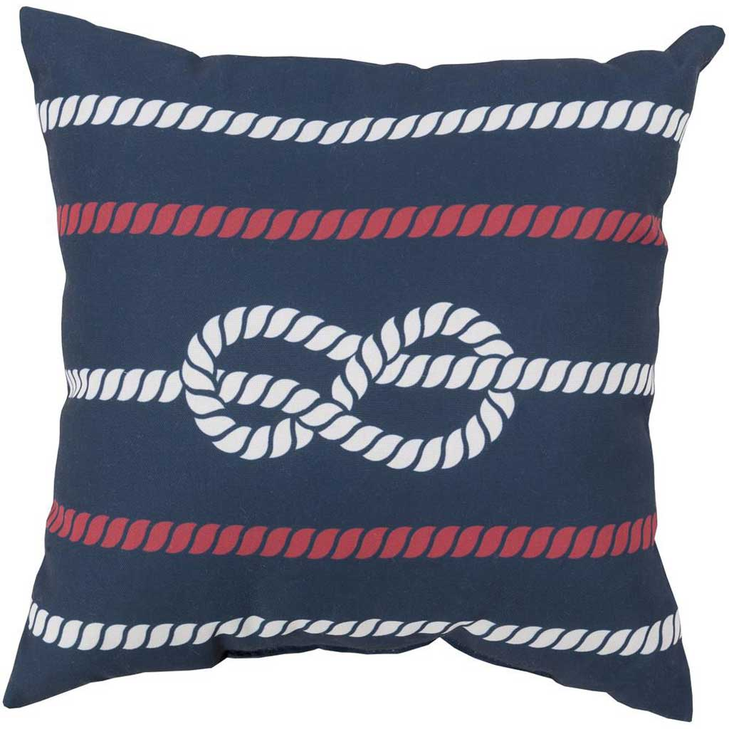 Knotted with Grace Cobalt/Ivory Pillow