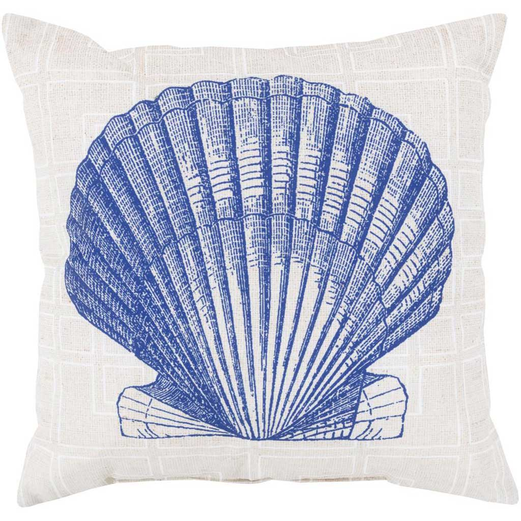 Shell of the Sea Cobalt/Beige Pillow