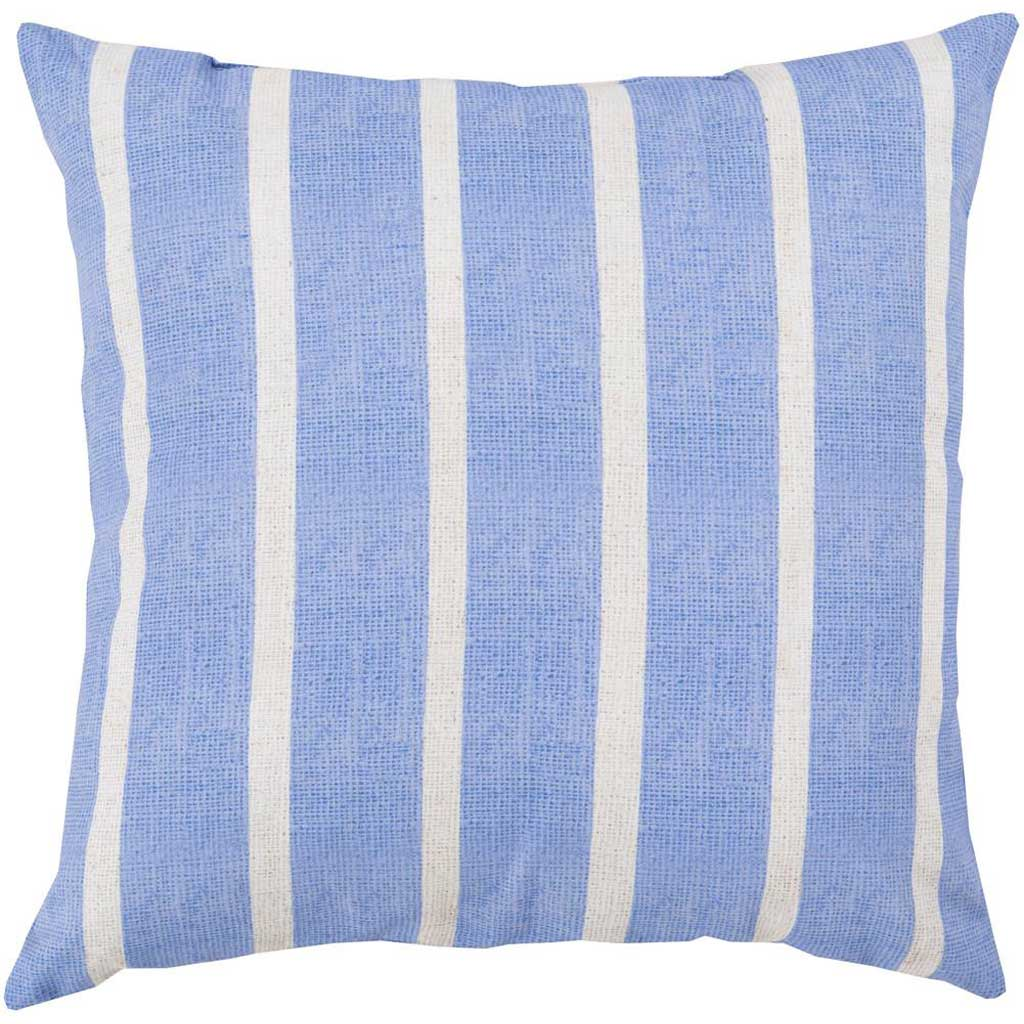 Madison Stripe Sky Blue/Light Gray Pillow