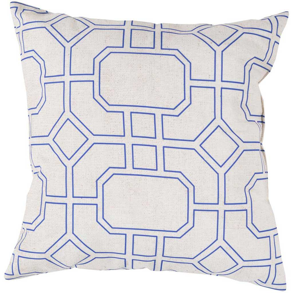 Trellis Marine Outdoor Iris/Light Gray Pillow