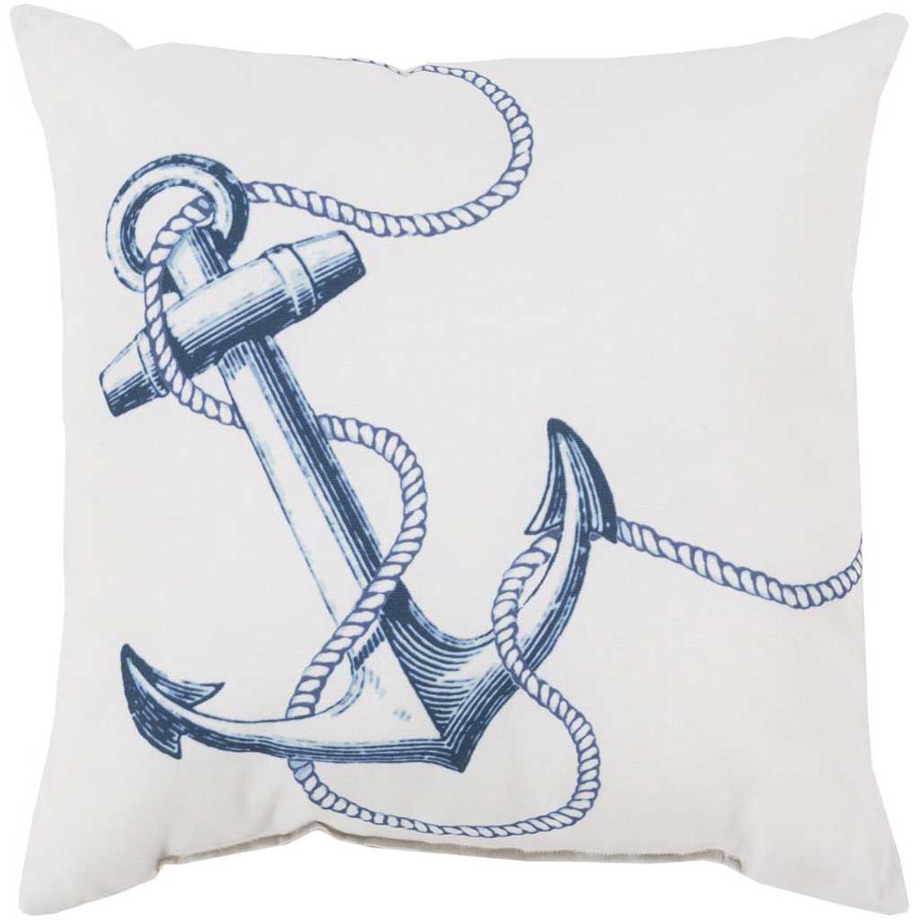 Attractive Anchor Ivory/Cobalt Pillow
