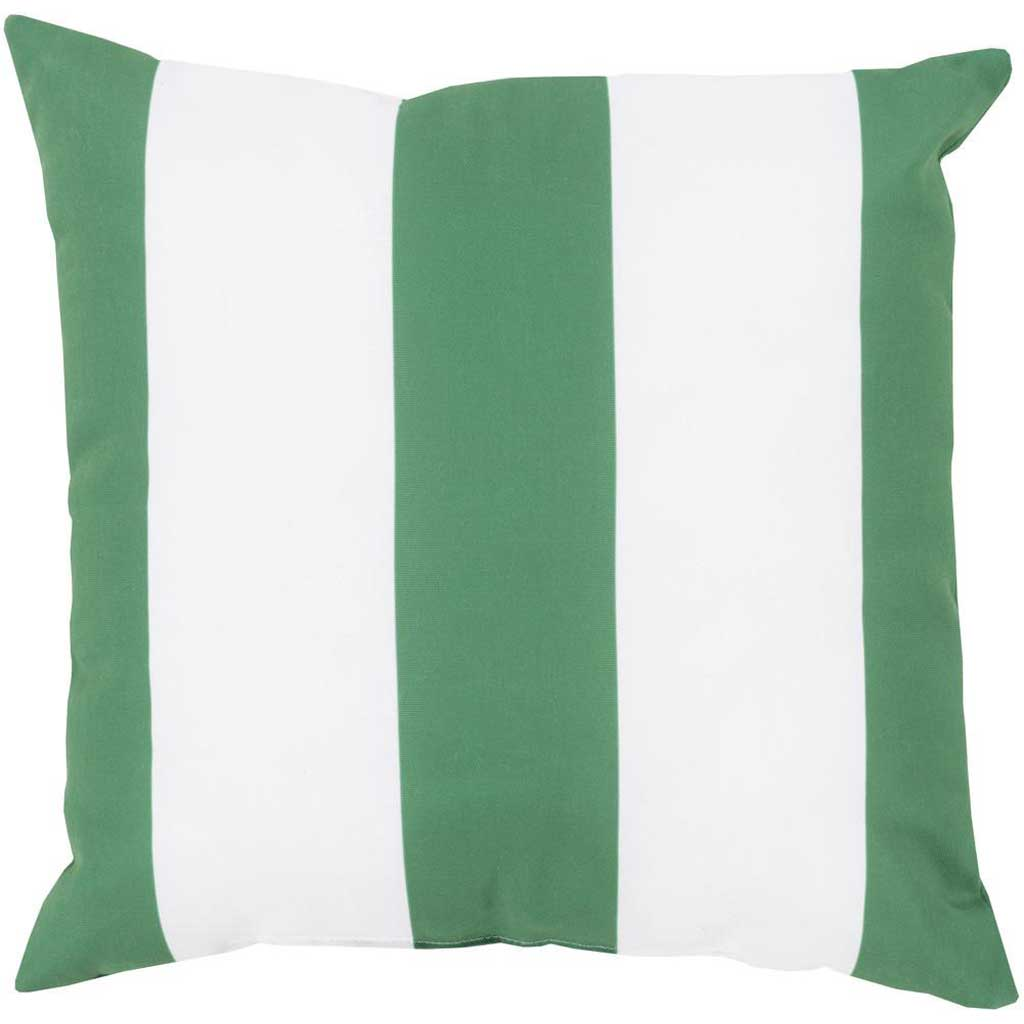 Awning Stripe Kelly Green Outdoor Emerald/Kelly Green/Ivory Pillow