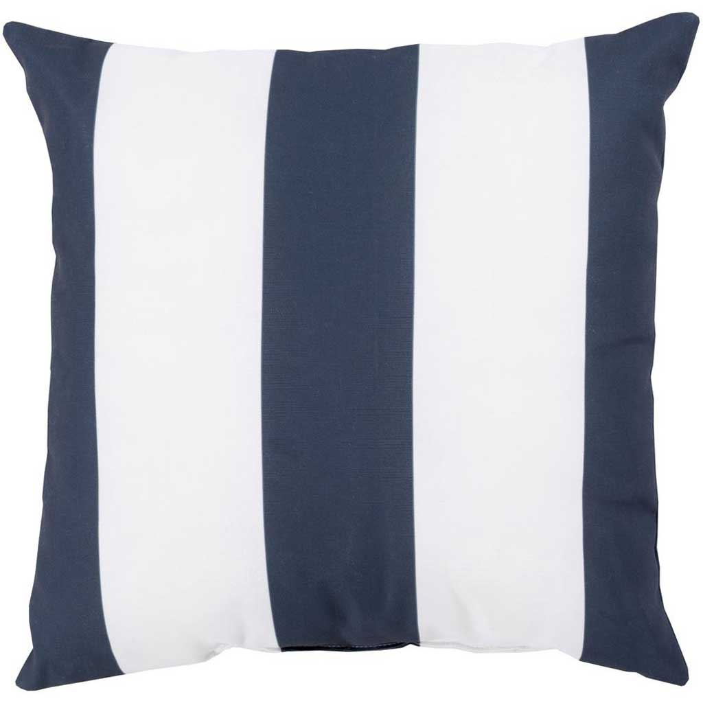 Awning Stripe Navy Outdoor Navy/Ivory Pillow