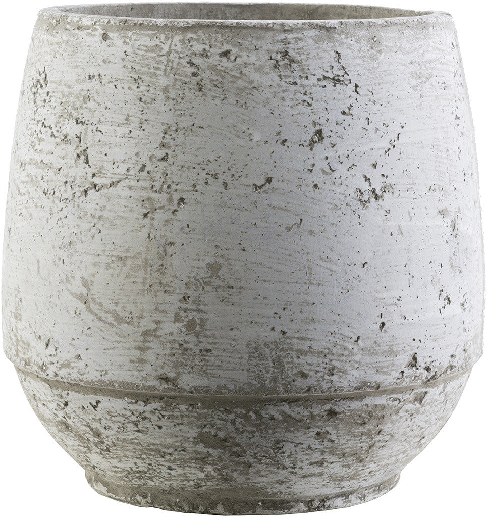 Rome Cement Pot Light Gray