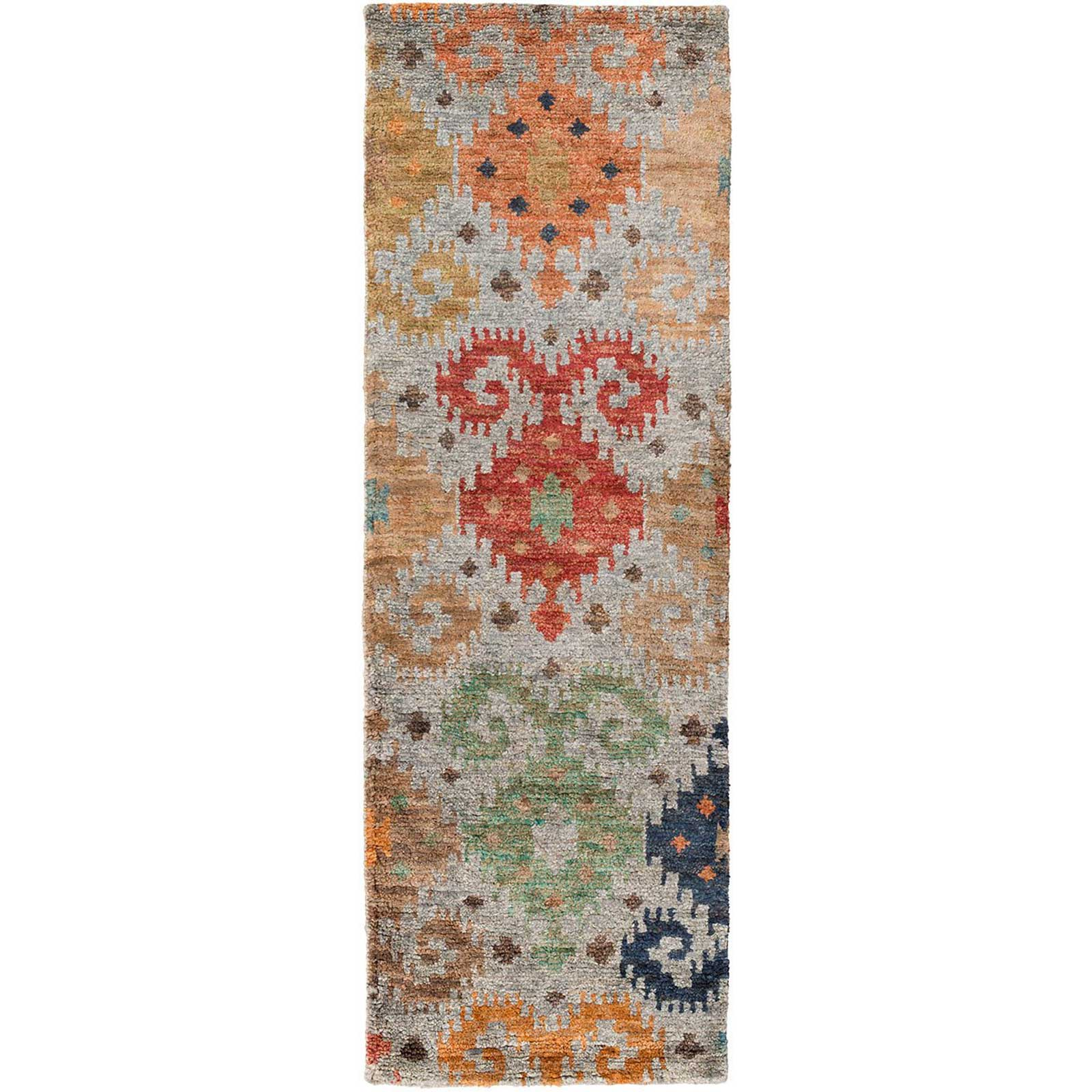 Scarborough Rust/Emerald/Kelly Runner Rug