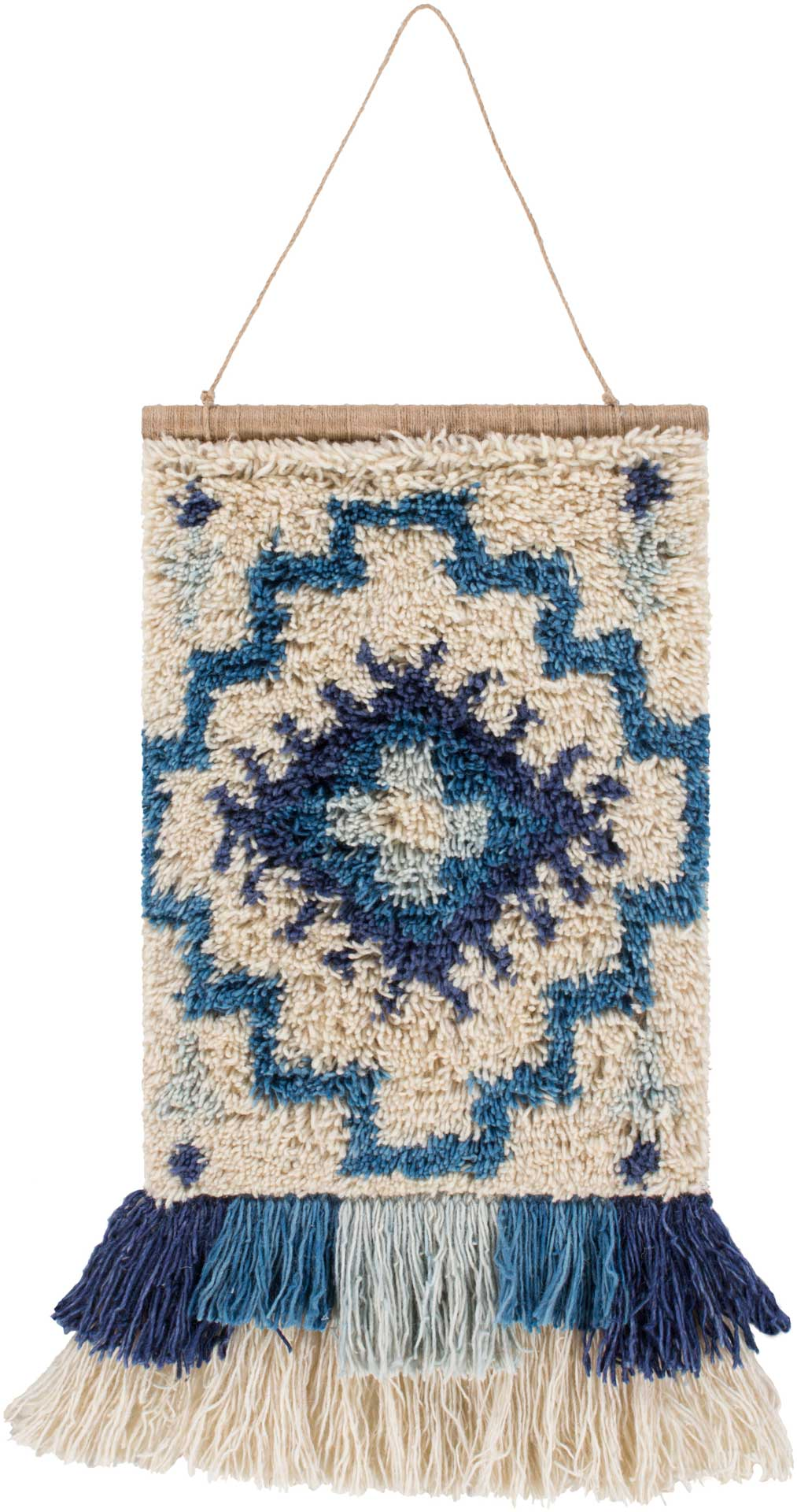 Safura Wall Hanging Denim/Sky Blue/Cream