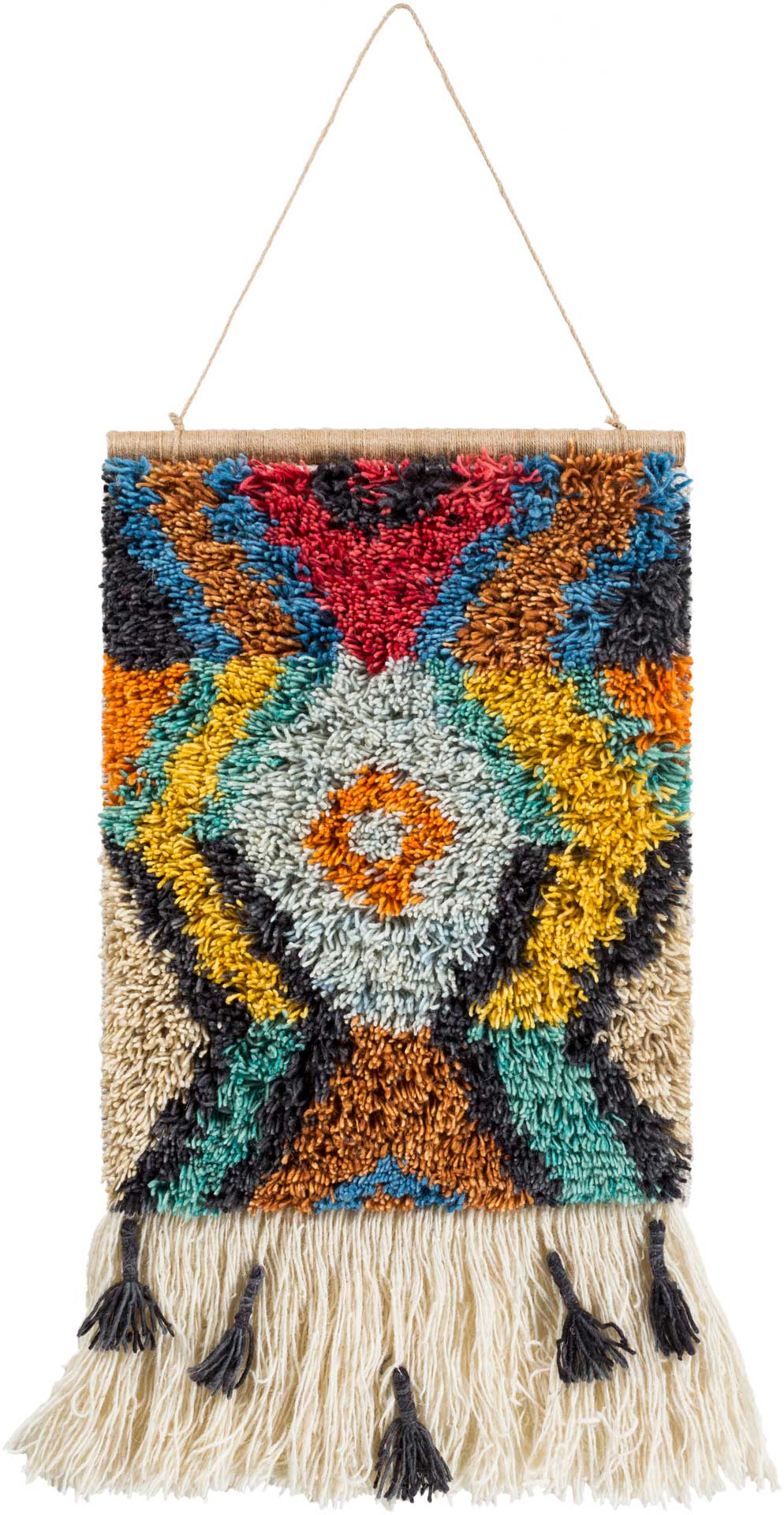 Safura Wall Hanging Saffron/Sea Foam/Bright Orange