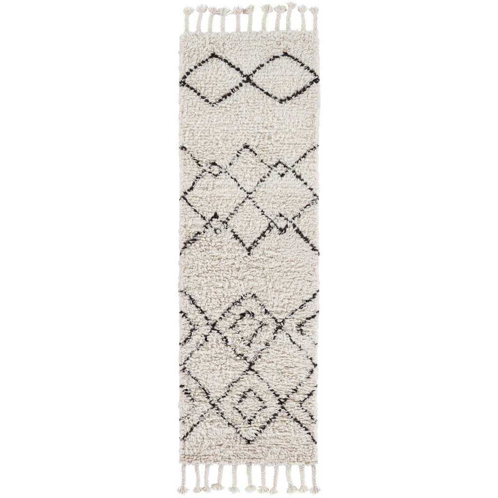 Sherpa Ivory/Taupe Runner Rug