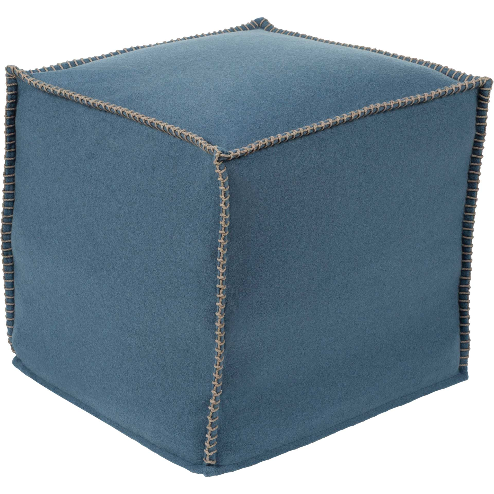 Simon Pouf Denim/Sea Foam