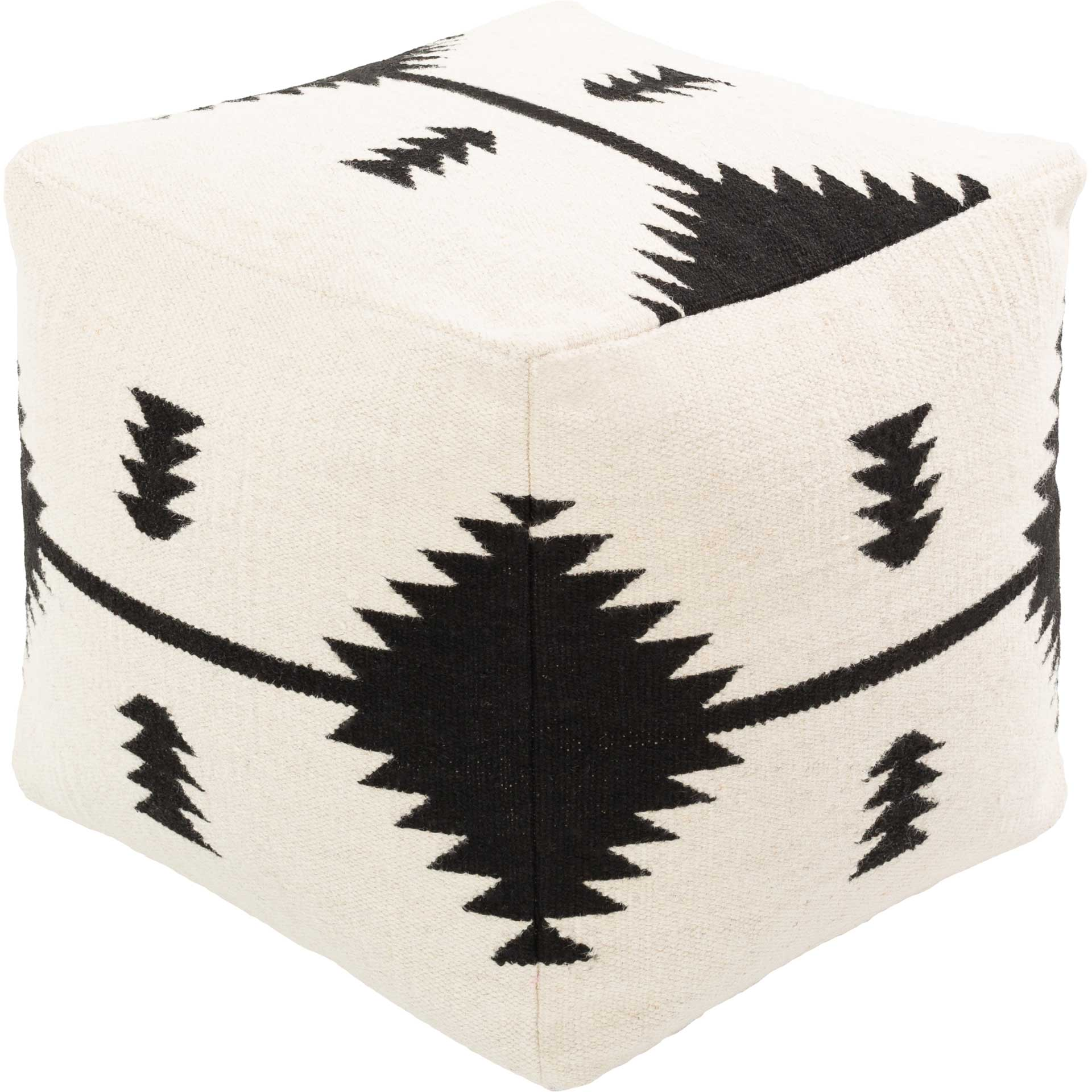Sherman Pouf Cream/Black