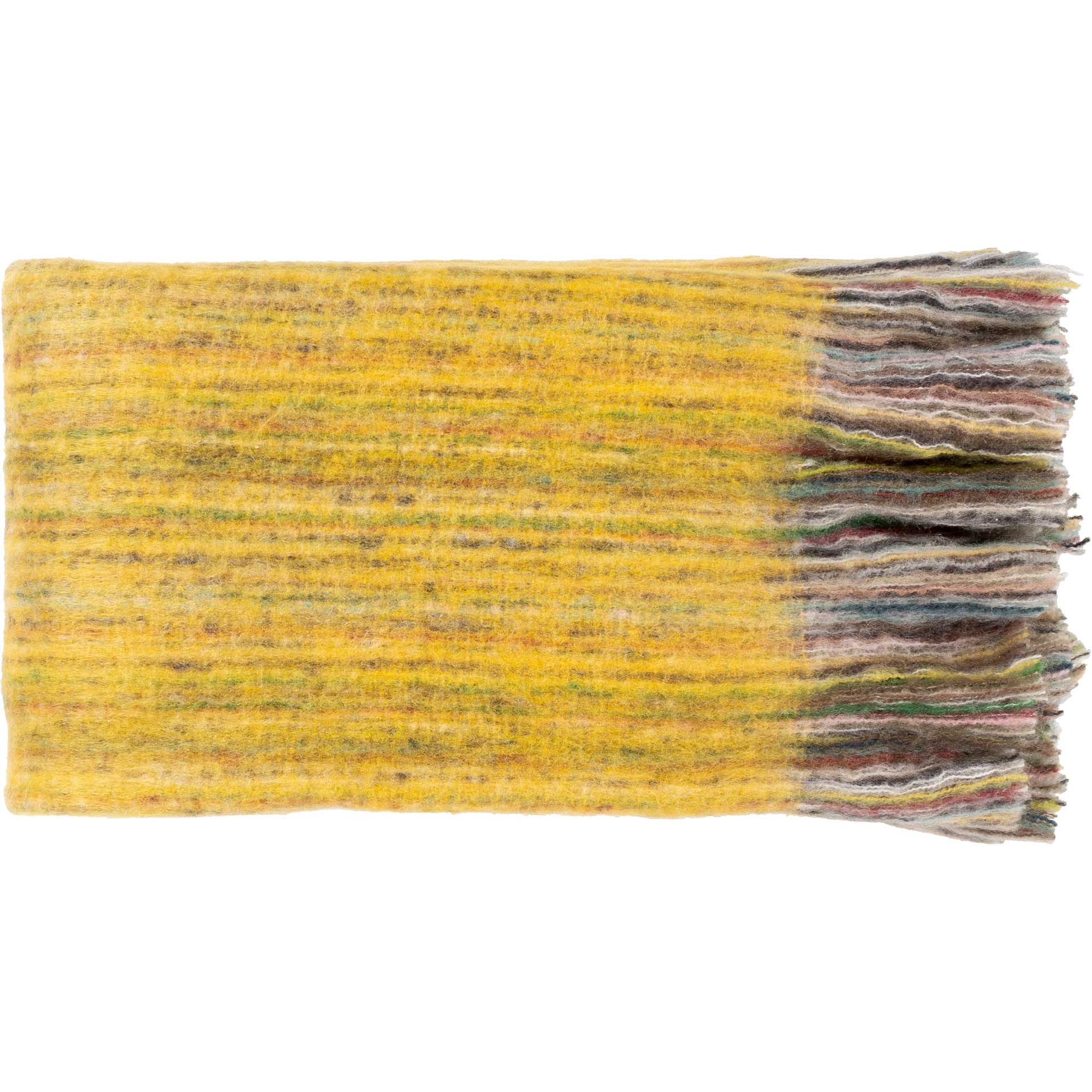 Sterling Throw Bright Yellow/Grass Green/Dark Red