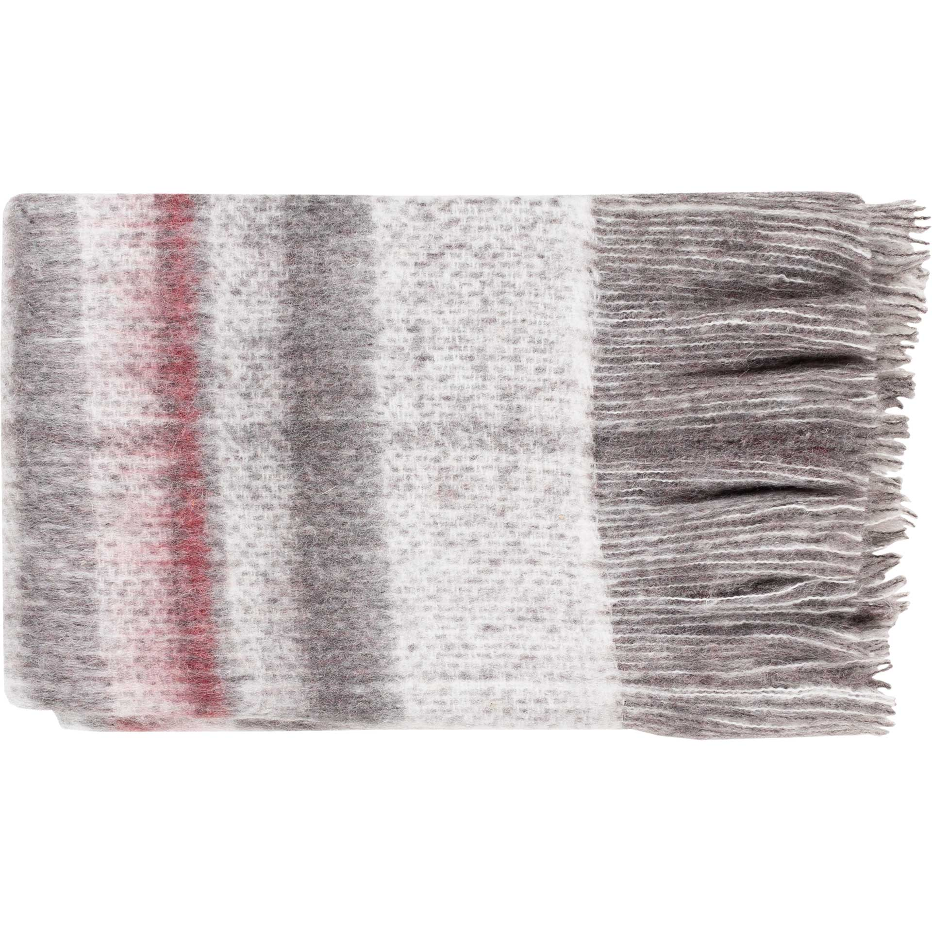 Sterling Throw Dark Red/Medium Gray/White