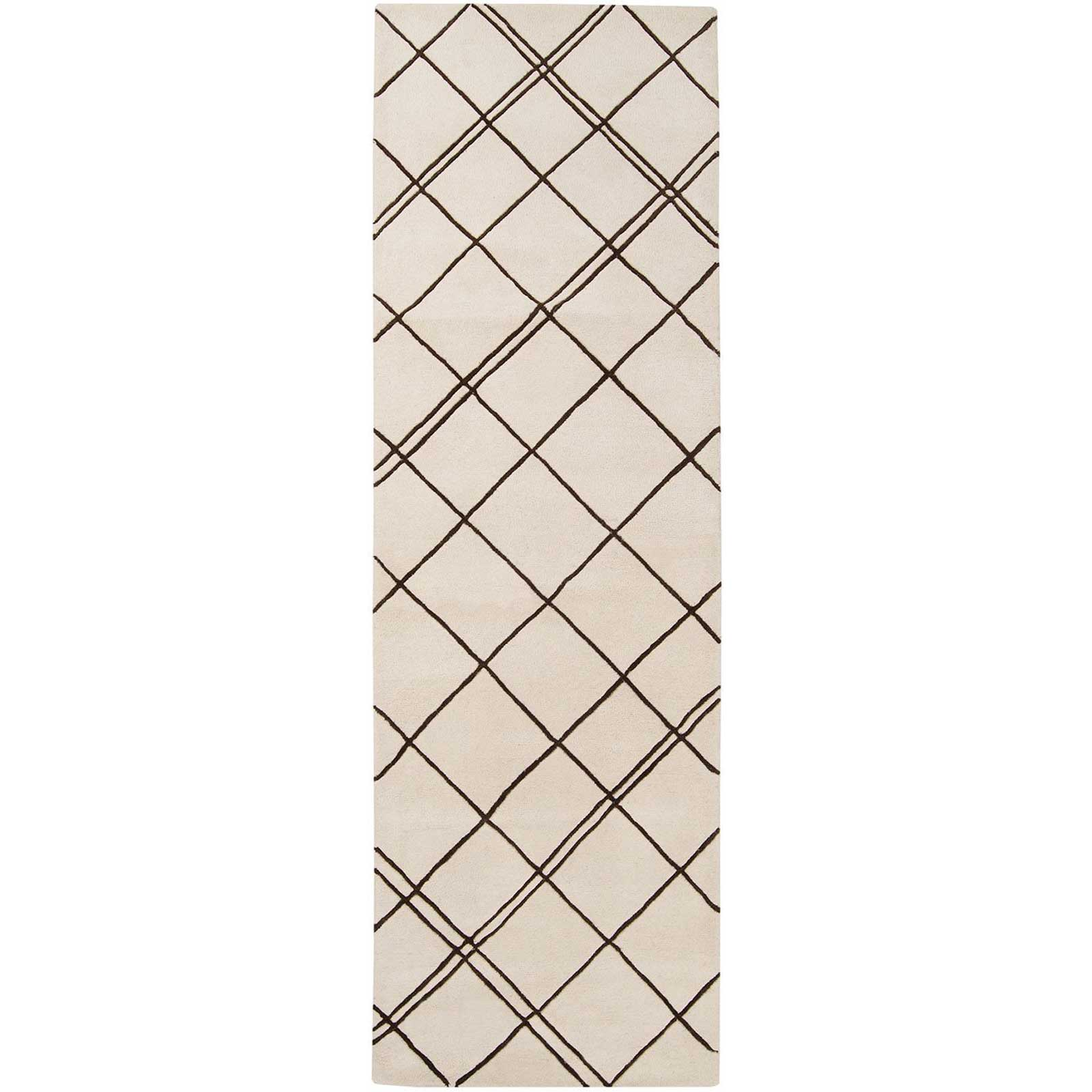 Studio Beige/Chocolate Runner Rug