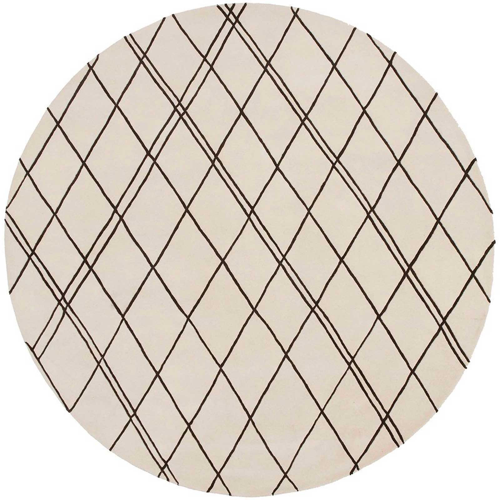 Studio Beige/Chocolate Round Rug