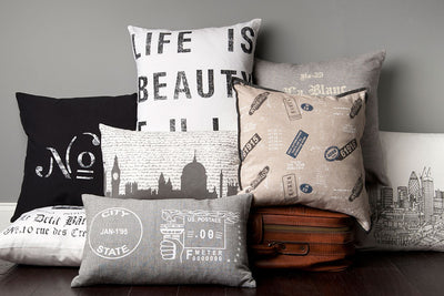 Life is Beauty Ivory/Black Pillow