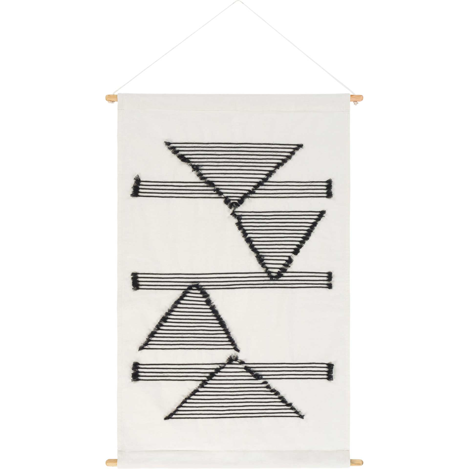 Salma Wall Hanging Ivory/Black