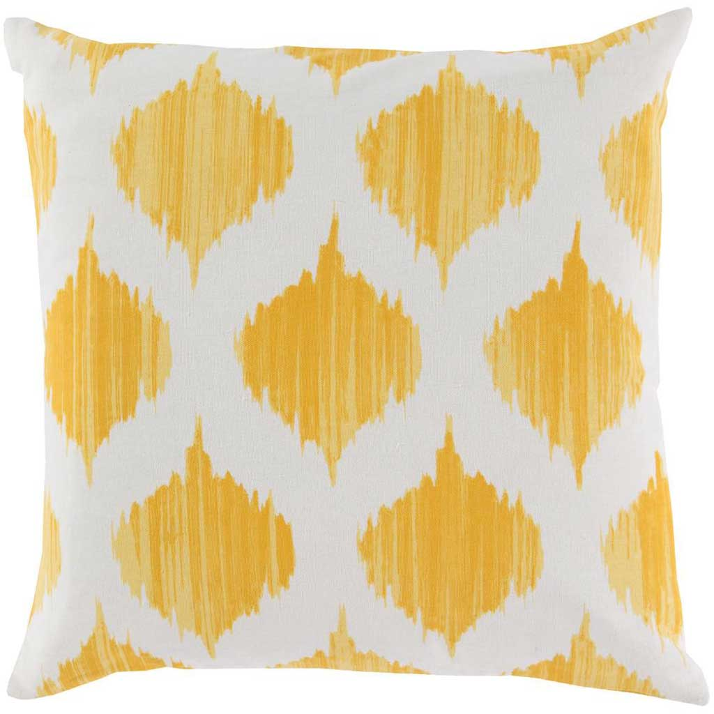 Exquisite in Ikat Sunflower/Ivory Pillow
