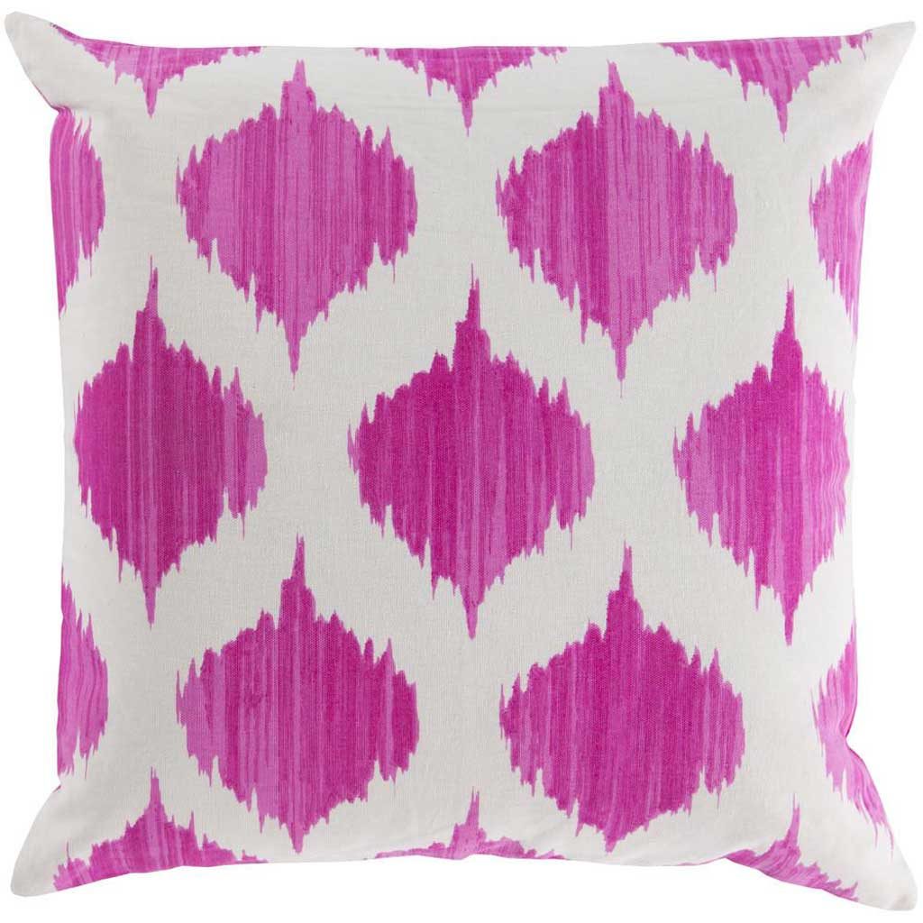 Exquisite in Ikat Magenta/Ivory Pillow