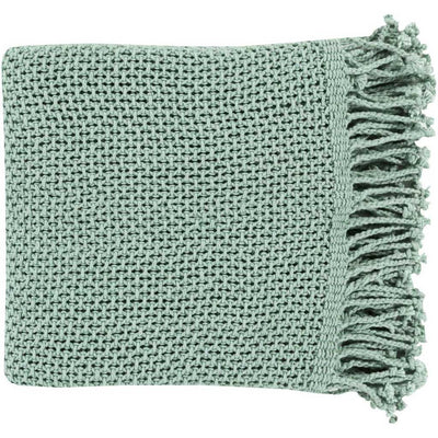 Tibey Solid Teal Throw