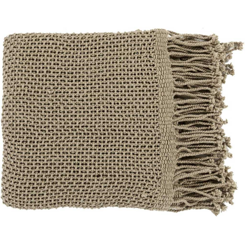 Tibey Solid Brown Throw