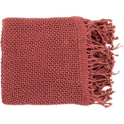 Tibey Solid Red Throw