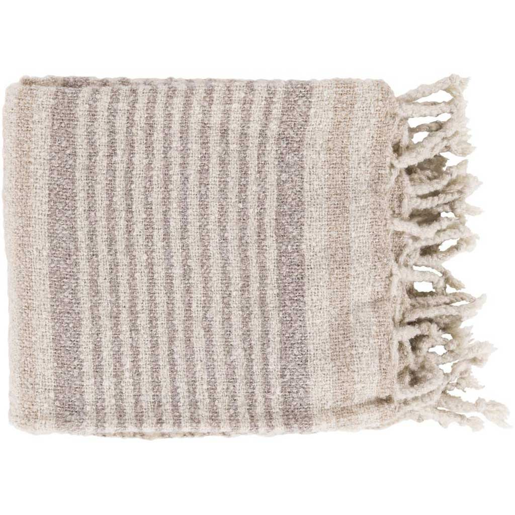 Treasure Striped Neutral/Gray Throw