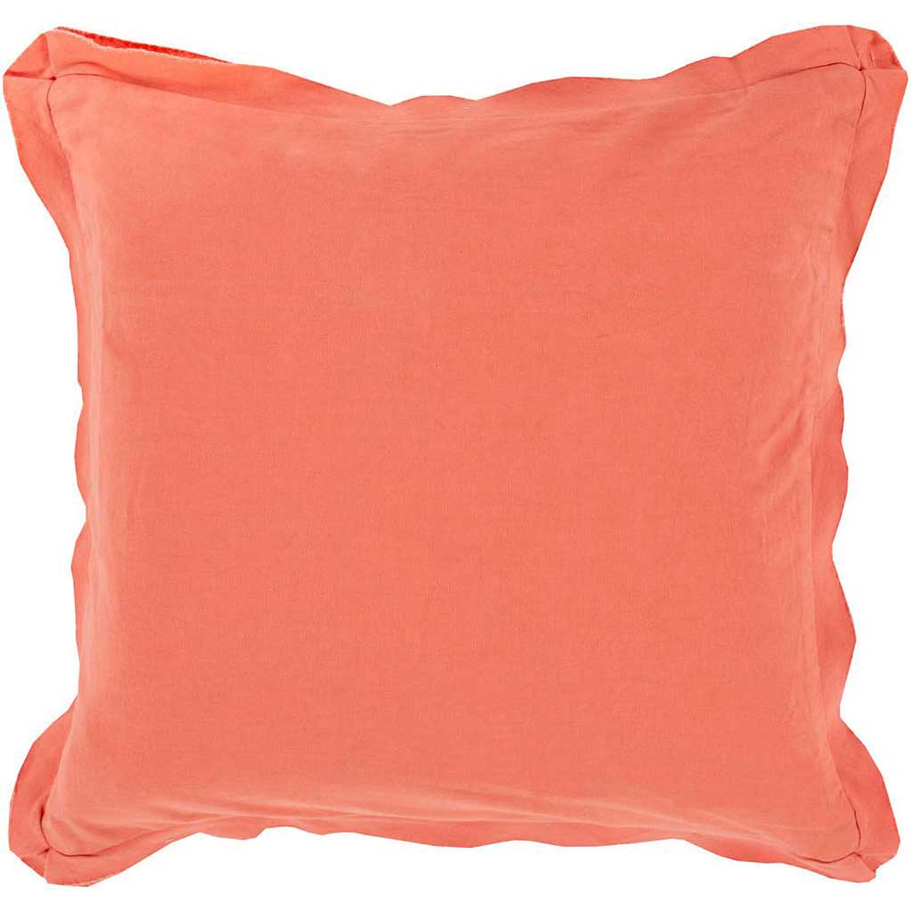 Simple Sophistication Coral Pillow