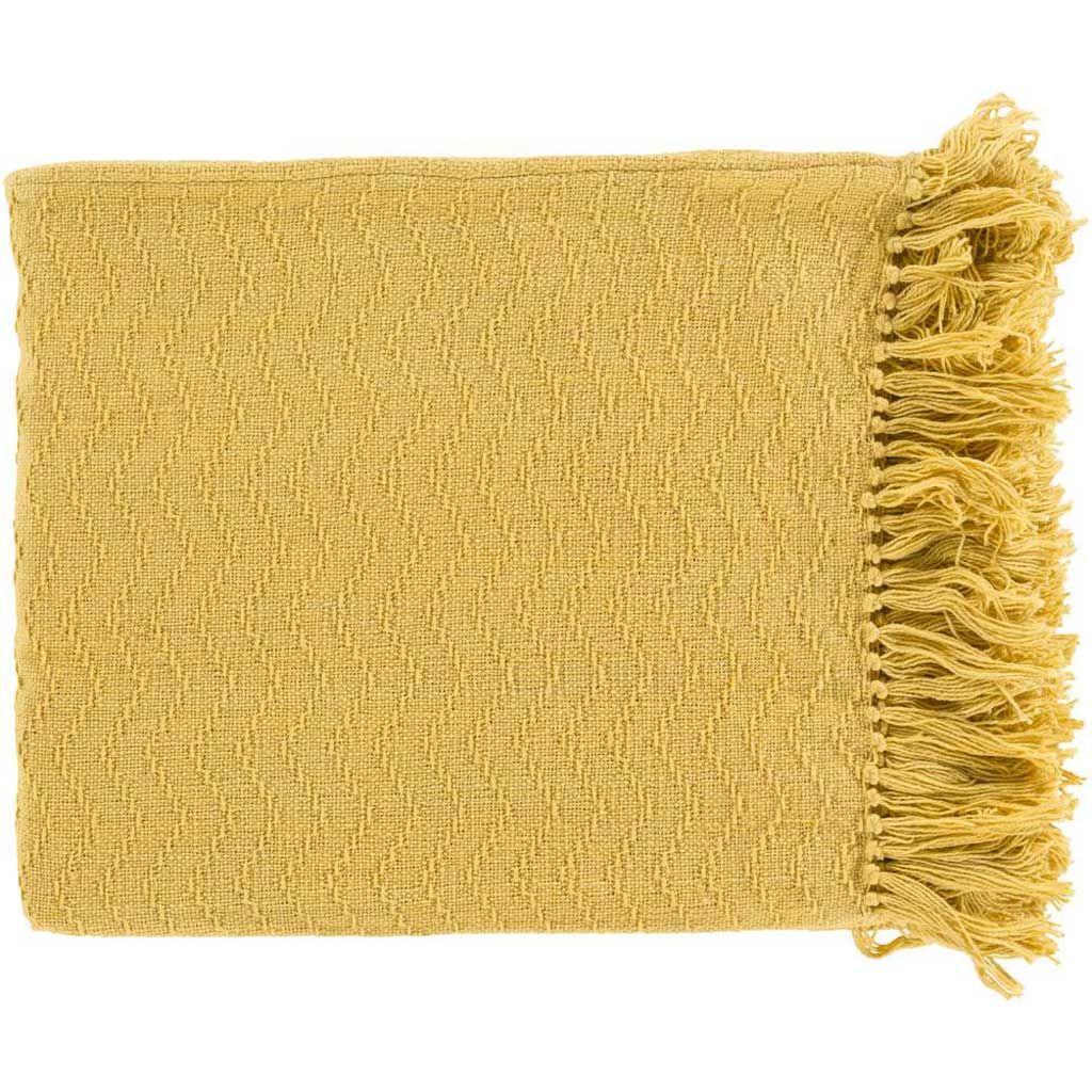 Thelma Solid Yellow Throw