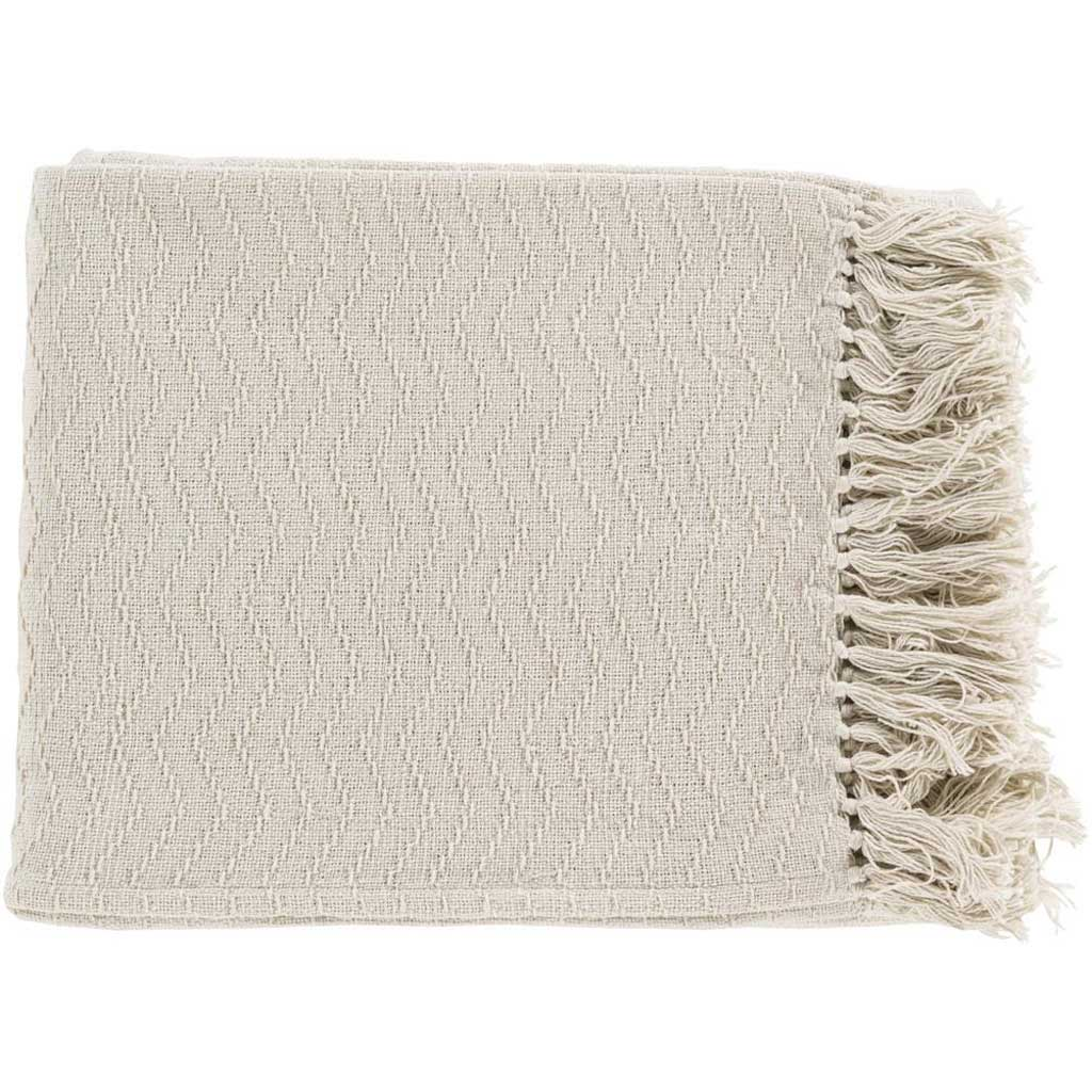 Thelma Solid Neutral Throw