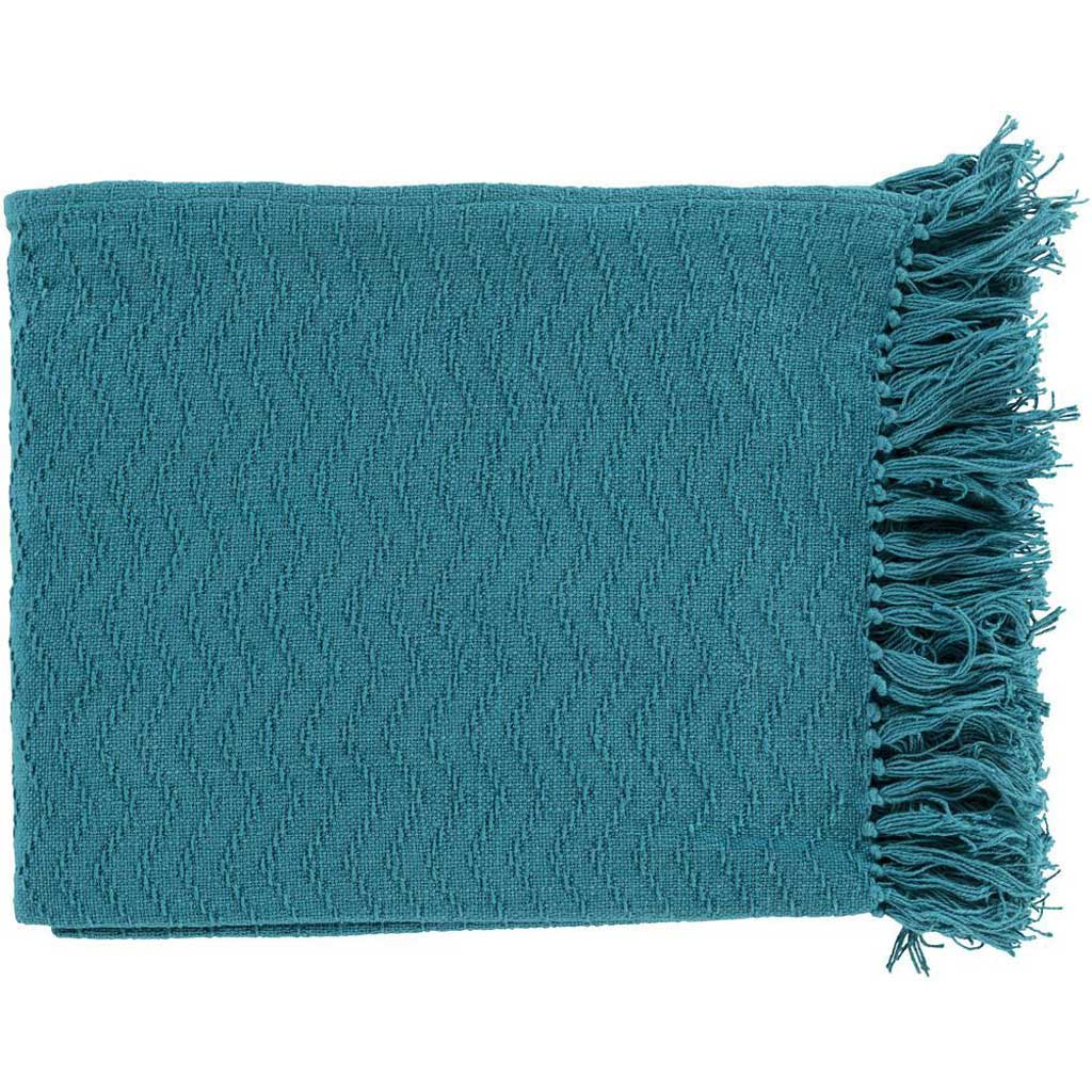 Thelma Solid Blue Throw