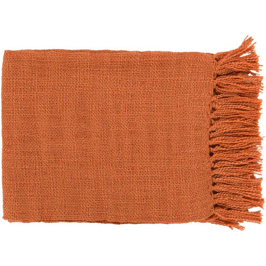 Tilda Solid Orange Throw