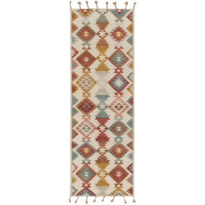 Tallo Rust/Cherry/Moss Runner Rug