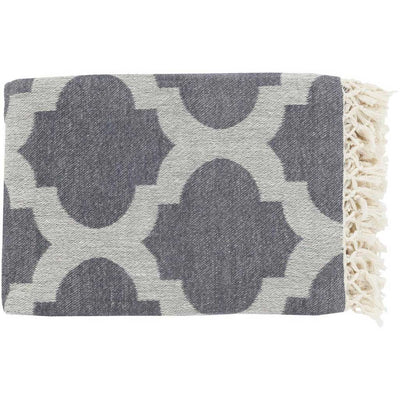 Trellis Geometric Gray Throw