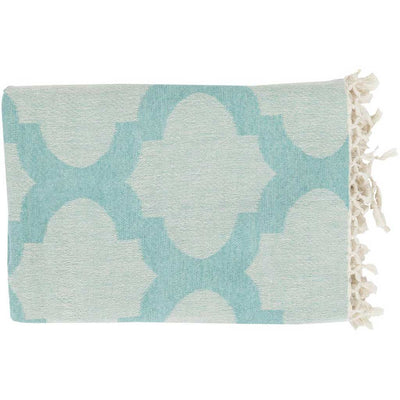 Trellis Geometric Blue Throw