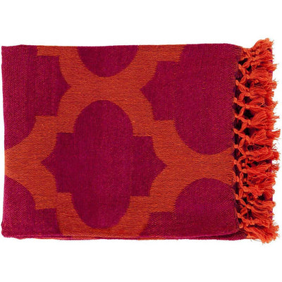 Trellis Geometric Red Throw