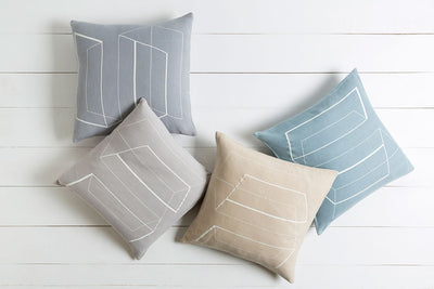 Lines and Angles Light Gray/Ivory Pillow