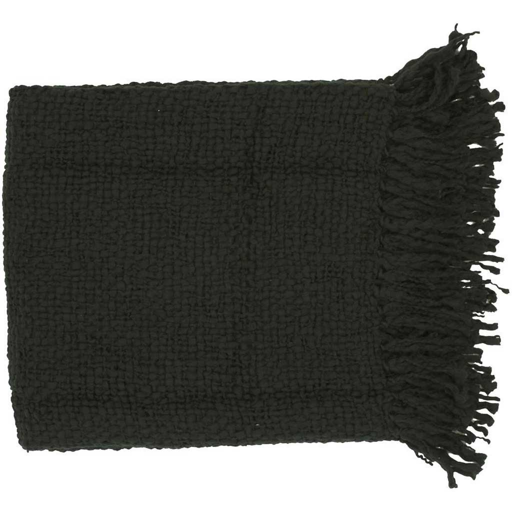 Tobias Solid Black Throw